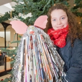 Hasbro Giving Tree Winner - Aoife Dooley-Cullinane winner of the Hasbro Christmas Tree Decoration Competition.